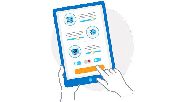 Dynamic adaptive networking -illustration spot network desktop