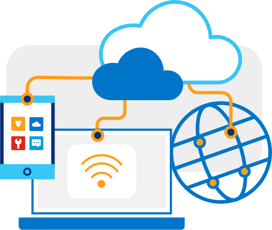 Dynamic adaptive networking -illustration-spot-sdwan